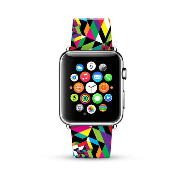 Abstract Colorful Geometric Pattern Watch Band Strap for Apple Watch -  38mm / 40mm  , 42mm / 44mm