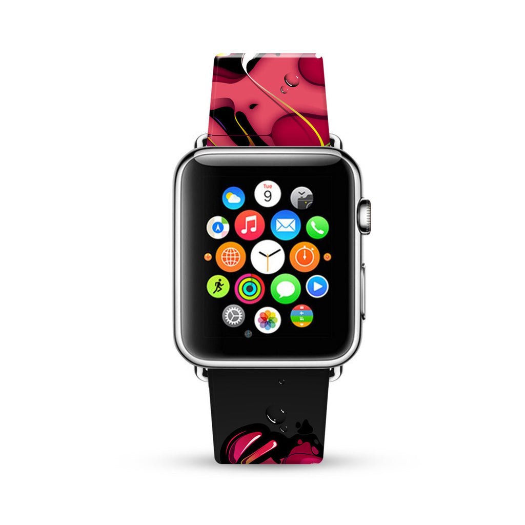 Black Pink Graffiti Wall Watch Band Strap for Apple Watch - 38 mm / 42 mm