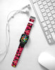 Black Pink Graffiti Wall Watch Band Strap for Apple Watch -  38mm / 40mm  , 42mm / 44mm