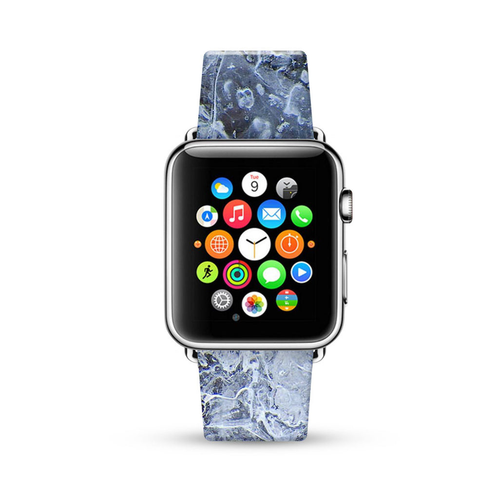 Abstract Ice Pattern Winter Time Watch Band Strap for Apple Watch -  38mm / 40mm  , 42mm / 44mm