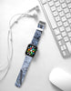 Abstract Ice Pattern Winter Time Watch Band Strap for Apple Watch - 38 mm / 42 mm
