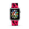 Hot Pink Leopard Pattern Watch Band Strap for Apple Watch -  38mm / 40mm  , 42mm / 44mm