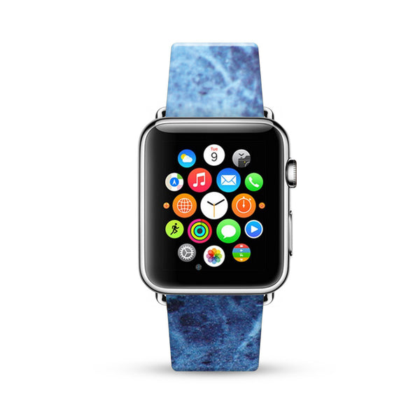 Faux Blue Marble Printed Watch Band Strap for Apple Watch - 38 mm / 42 mm