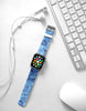 Faux Blue Marble Printed Watch Band Strap for Apple Watch -  38mm / 40mm  , 42mm / 44mm