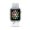 Faux White Marble Printed Watch Band Strap for Apple Watch -  38mm / 40mm  , 42mm / 44mm
