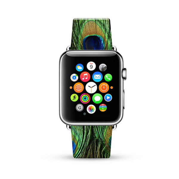 Peacock Pattern Watch Band Strap for Apple Watch -  38mm / 40mm  , 42mm / 44mm
