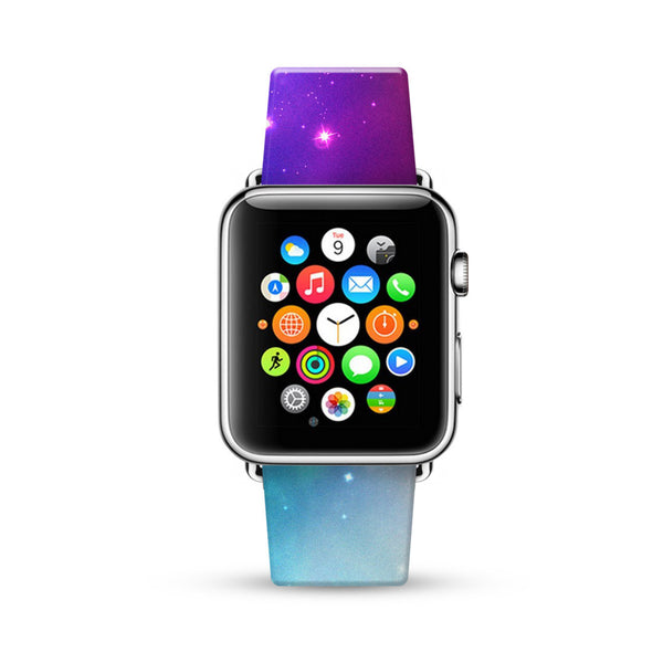 Star Galaxy Nebula Star Night  Watch Band Strap for Apple Watch -  38mm / 40mm  , 42mm / 44mm