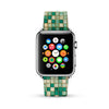 Green Mosaic Tiles Pattern Watch Band Strap for Apple Watch - 38 mm / 42 mm