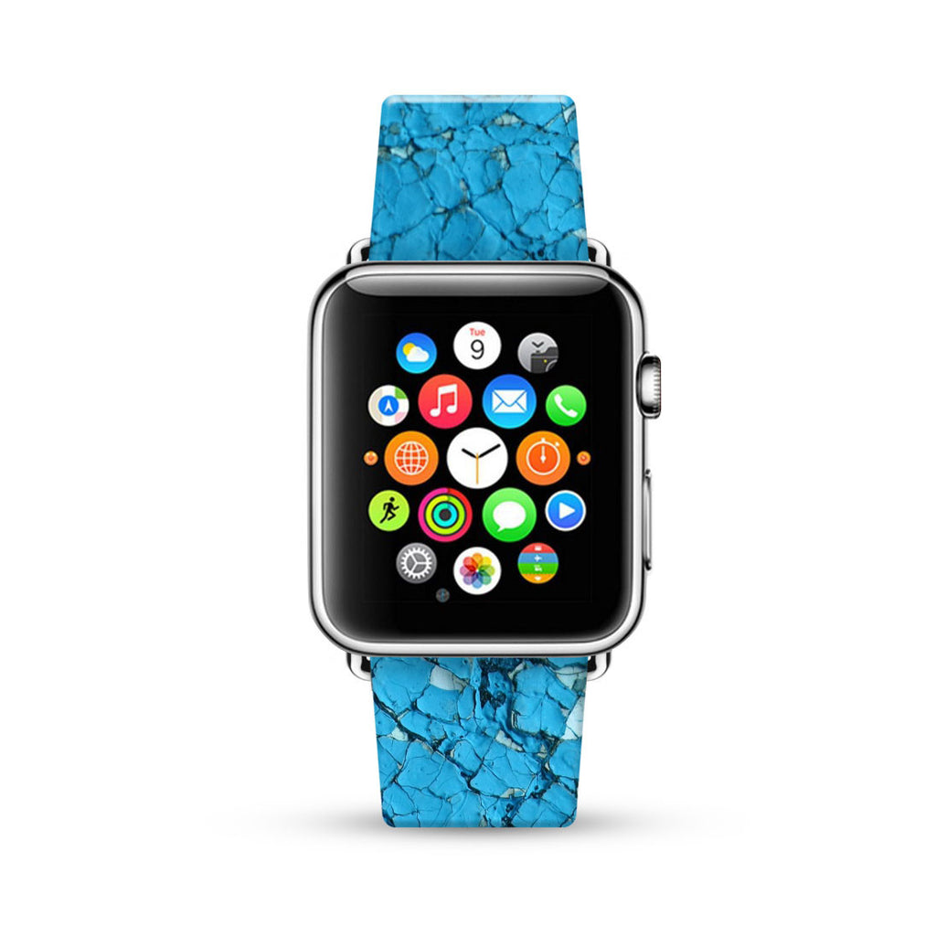 Wall Blue Brick Watch Band Strap for Apple Watch -  38mm / 40mm  , 42mm / 44mm