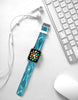 Water Blue  Watch Band Strap for Apple Watch -  38mm / 40mm  , 42mm / 44mm