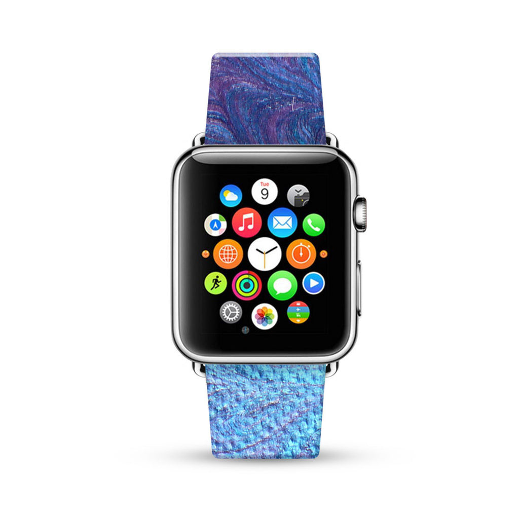 Water paint abstract color Purple 10 Watch Band Strap for Apple Watch -  38mm / 40mm  , 42mm / 44mm