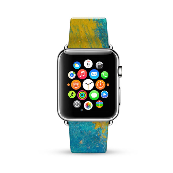 Abstract Blue Water Painting Watch Band Strap for Apple Watch -  38mm / 40mm  , 42mm / 44mm
