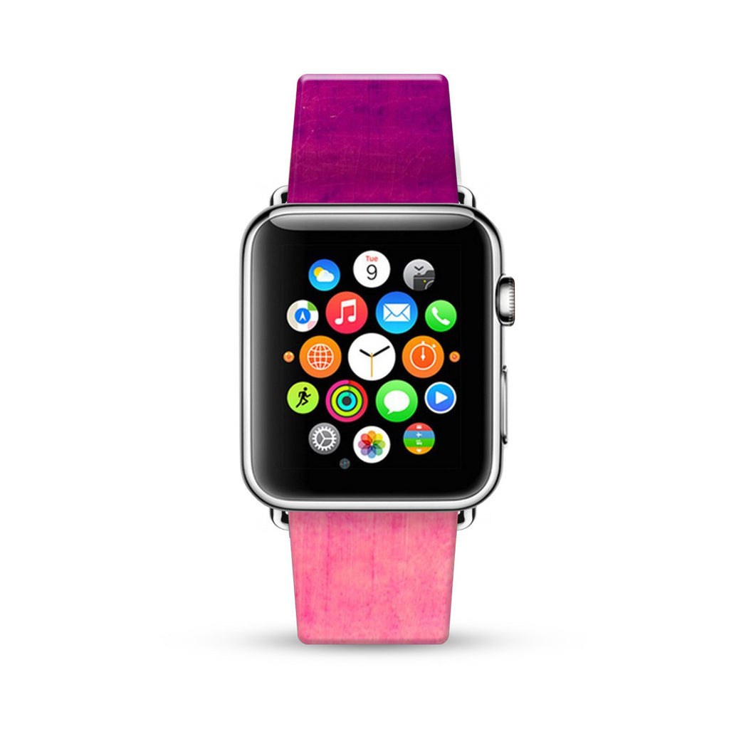 Abstract Hot Pink Water Painting Watch Band Strap for Apple Watch -  38mm / 40mm  , 42mm / 44mm