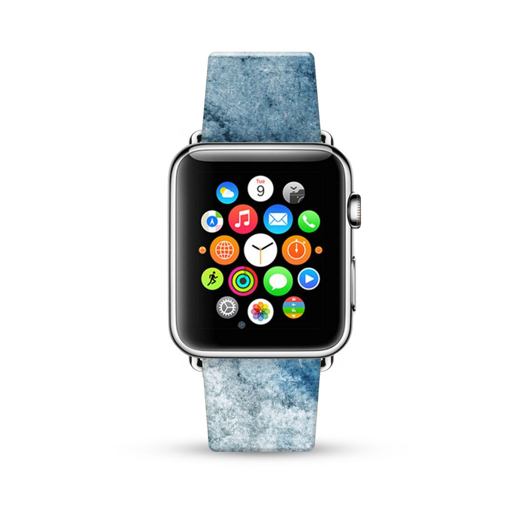 Water paint abstract color Blue 16 Watch Band Strap for Apple Watch - 38 mm / 42 mm