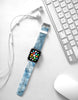 Water paint abstract color Blue 16 Watch Band Strap for Apple Watch -  38mm / 40mm  , 42mm / 44mm