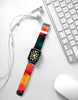 Water paint abstract color Orange 17 Watch Band Strap for Apple Watch -  38mm / 40mm  , 42mm / 44mma