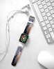 Water paint abstract color Purple 03 Watch Band Strap for Apple Watch -  38mm / 40mm  , 42mm / 44mm