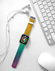 Abstract Rainbow Water Painting Watch Band Strap for Apple Watch -  38mm / 40mm  , 42mm / 44mm
