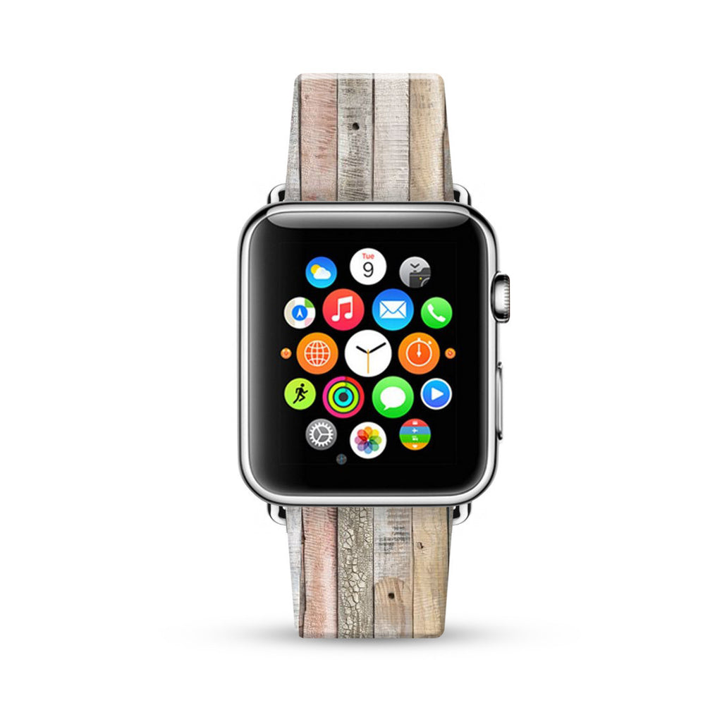 Hemlock Wood Pattern Watch Band Strap for Apple Watch -  38mm / 40mm  , 42mm / 44mm
