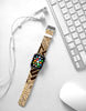 Vintage Words Pattern Brown Watch Band Strap for Apple Watch -  38mm / 40mm  , 42mm / 44mm
