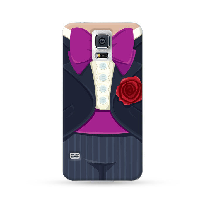 Sasmung Galaxy Case Bride and Groom Black | Ultra-case.com