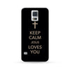 Sasmung Galaxy Case Keep Calm Jesus Loves You Black | Ultra-case.com
