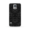 Sasmung Galaxy Case Flowers Black | Ultra-case.com