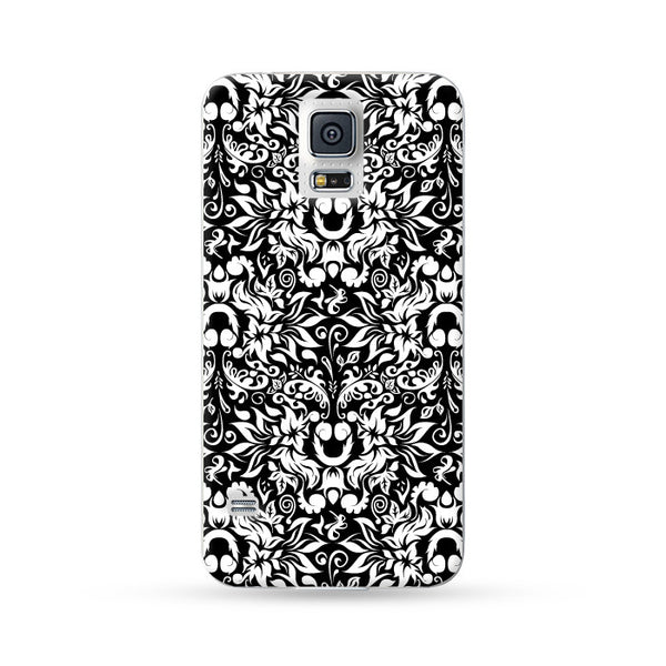Sasmung Galaxy Case Flowers White | Ultra-case.com