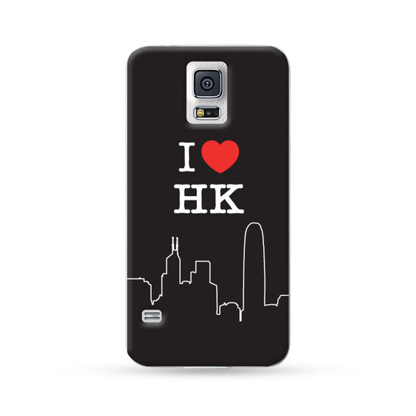 Sasmung Galaxy Case I Love HK Black | Ultra-case.com