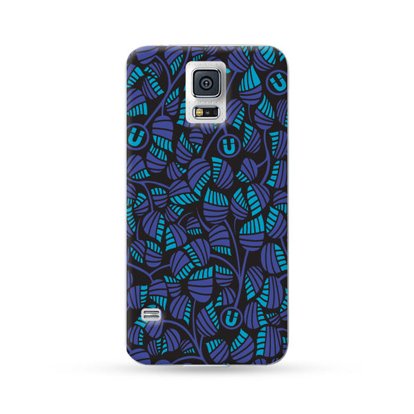 Sasmung Galaxy Case Leaves Blue | Ultra-case.com