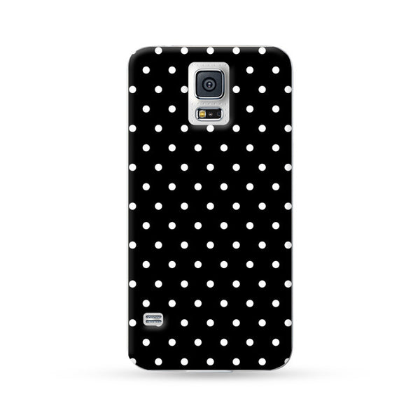 Sasmung Galaxy Case Polka Dots Black | Ultra-case.com