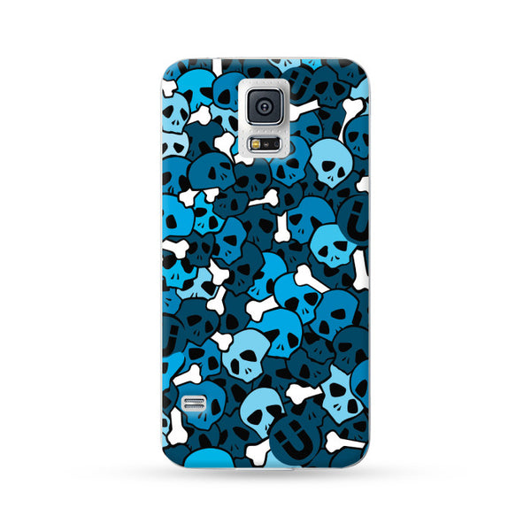 Samung Galaxy Case Skull Blue | Ultra-case.com