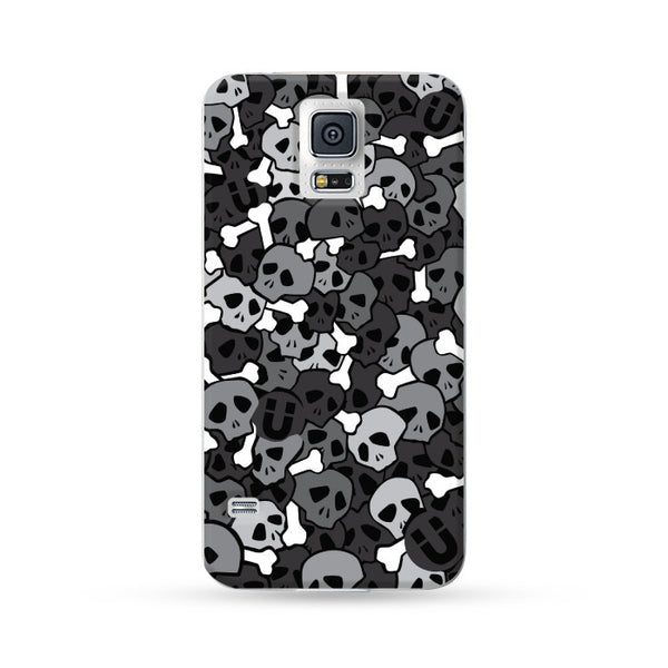 Samung Galaxy Case Skull Black | Ultra-case.com