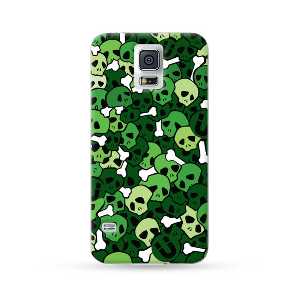Samung Galaxy Case Skull Green | Ultra-case.com