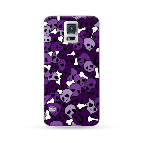 Samung Galaxy Case Skull Purple | Ultra-case.com
