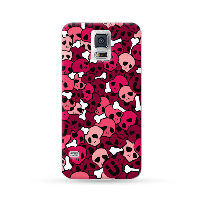 Samung Galaxy Case Skull Red | Ultra-case.com
