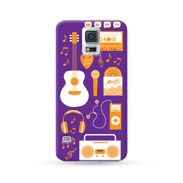 Samung Galaxy Case Ultra Music Purple | Ultra-case.com