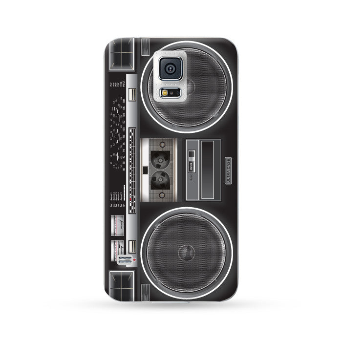 Samung Galaxy Case Ultra Sound Boombox Black | Ultra-case.com