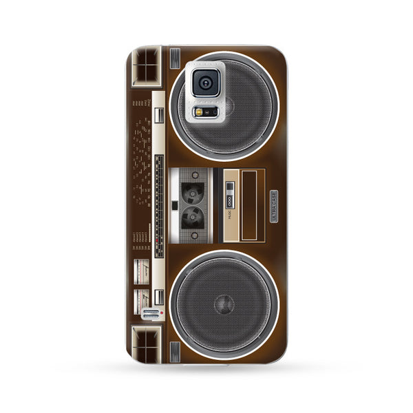 Samung Galaxy Case Ultra Sound Boombox Brown | Ultra-case.com