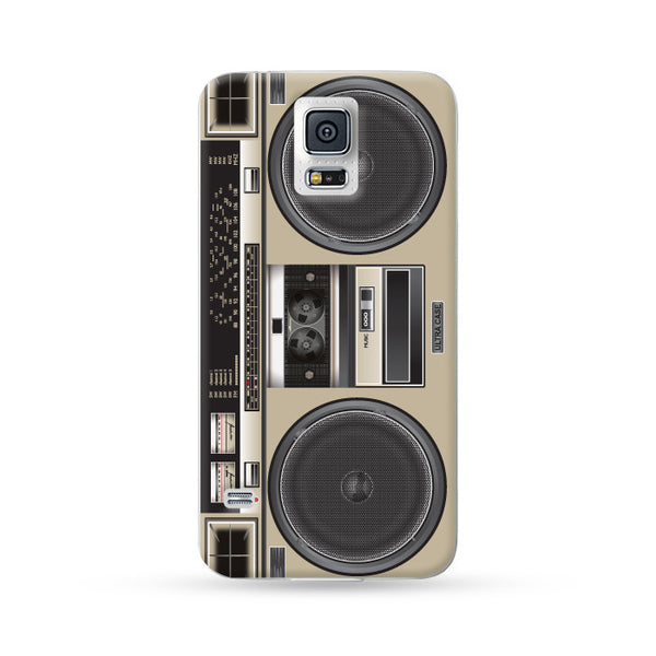 Samung Galaxy Case Ultra Sound Boombox Light Brown | Ultra-case.com