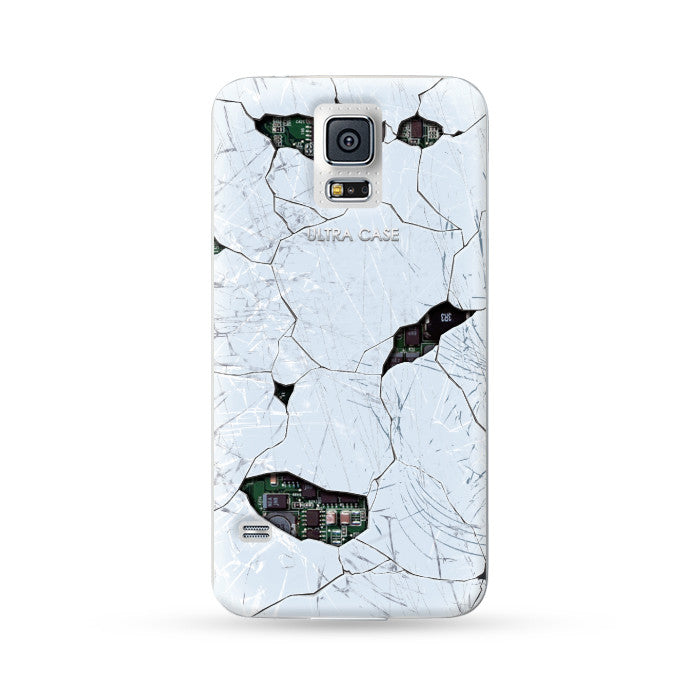 Samsung Galaxy Case Break Style White 2 | Ultra-case.com