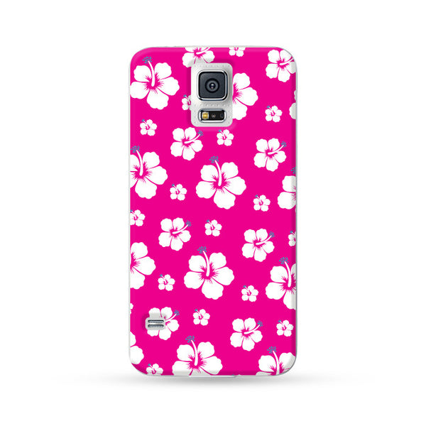 Samsung Galaxy Case Aloha Floral pattern Hot Pink | Ultra-case.com