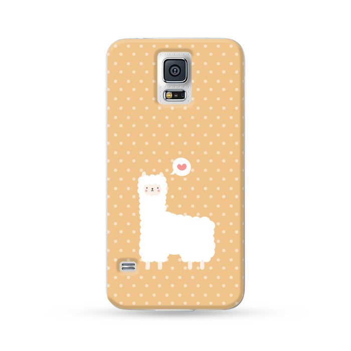 Samsung Galaxy Case Alpaca Orange | Ultra-case.com