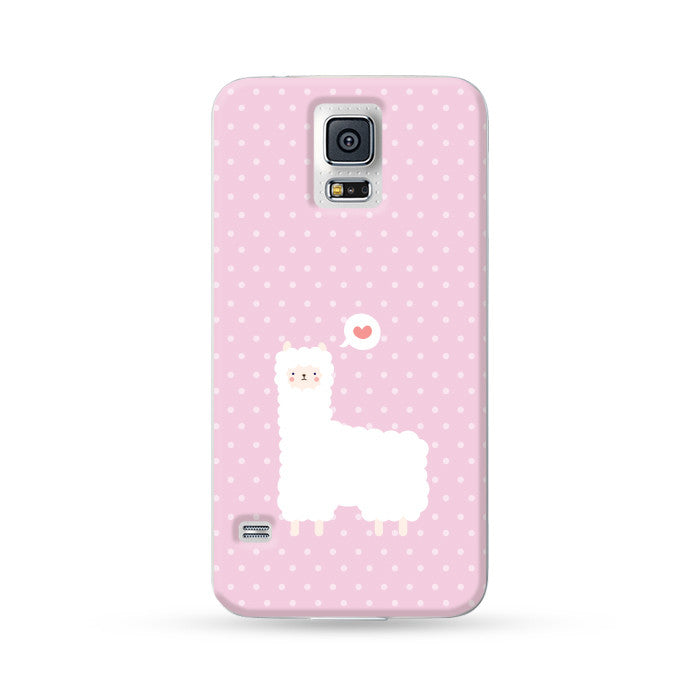 Samsung Galaxy Case Alpaca Pink | Ultra-case.com