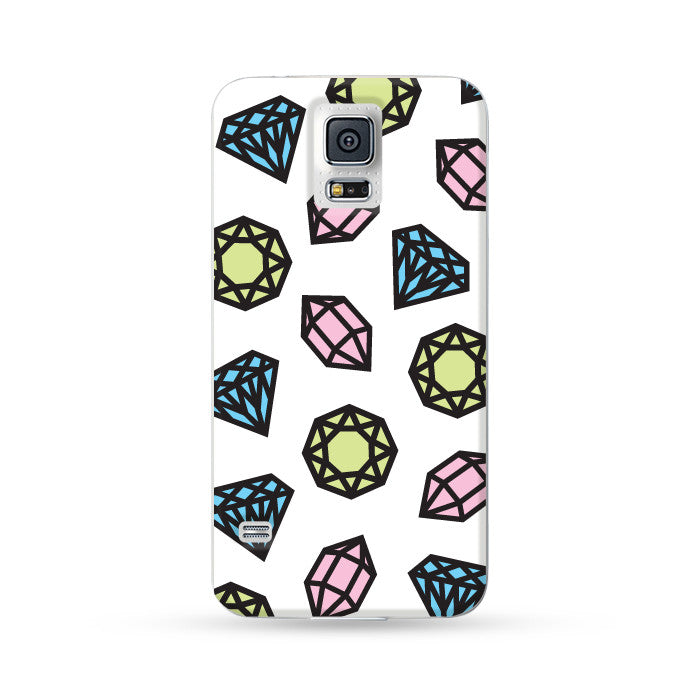Samsung Galaxy Case Bling Bling White | Ultra-case.com