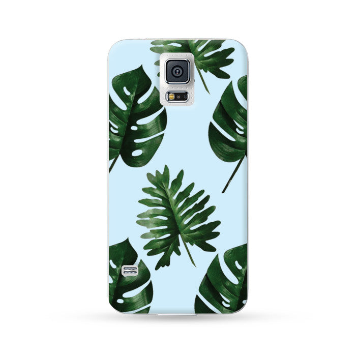 Samsung Galaxy Note 5 4 3 S6 edge plus S5 S4 S3 Case Botanical Green Leaf Blue | Ultra-case.com