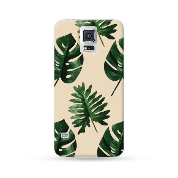 Samsung Galaxy Note 5 4 3 S6 edge plus S5 S4 S3 Case Botanical Green Leaf Brown | Ultra-case.com