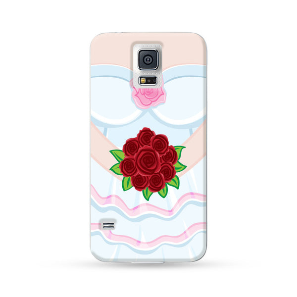 Samsung Galaxy Case Bride and Groom White | Ultra-case.com