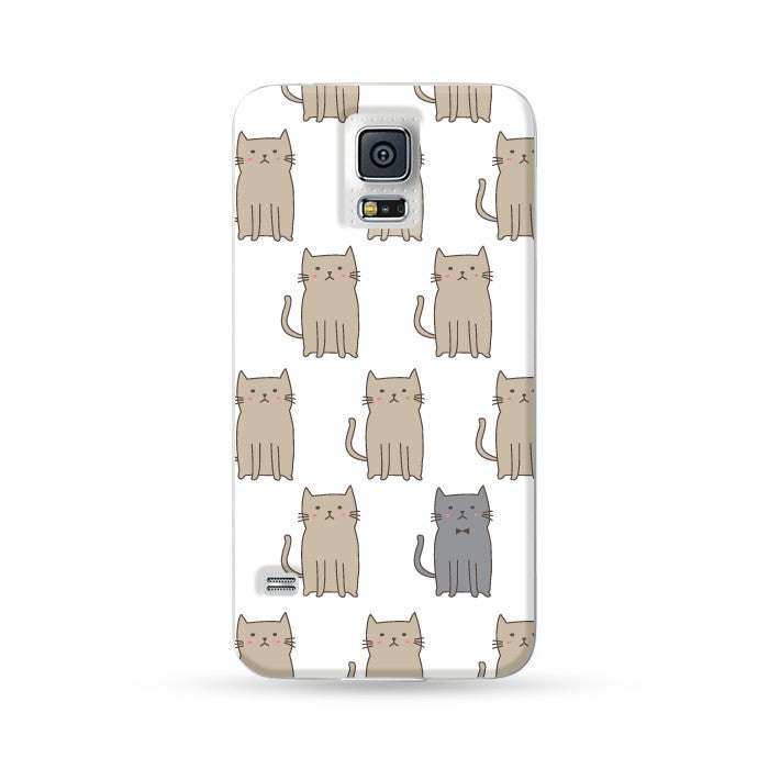 Samsung Galaxy Case Cats White | Ultra-case.com