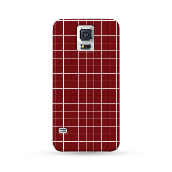 Samsung Galaxy Case Checks Red | Ultra-case.com